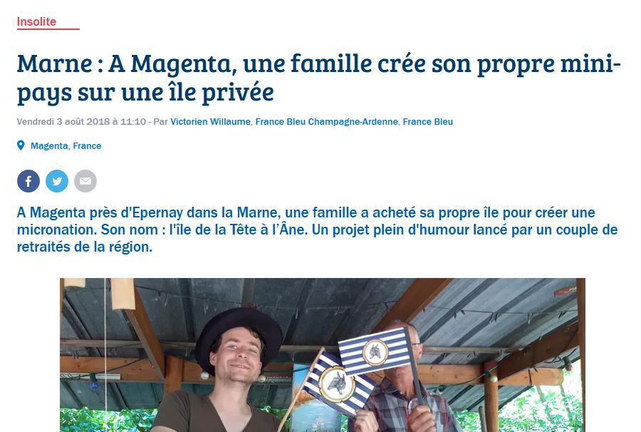 France bleu ilocratie tetalanoise micronation